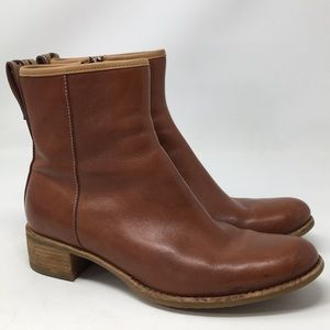 Timberland Ankle Boots Brown Leather Comfort 6.5